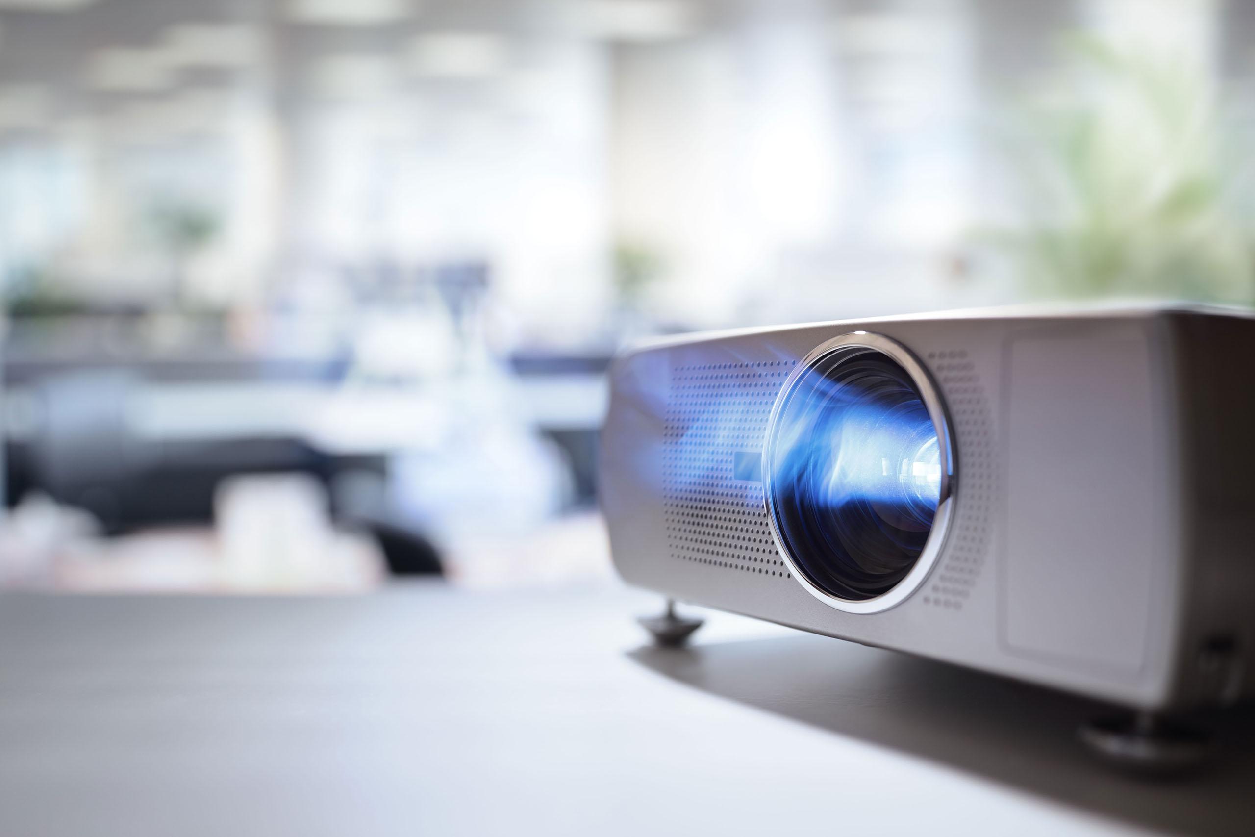 Bilder über einen Projektor darstellen