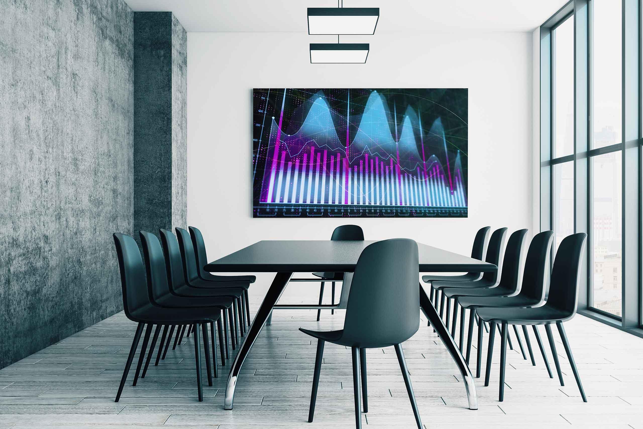 Bildschirm für Meetingraum